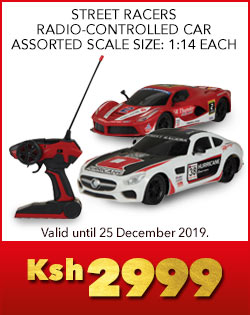 STREET RACERS RADIO-CONTROLLED CAR ASSORTED SCALE SIZE: 1:14 EACH, Ksh2999